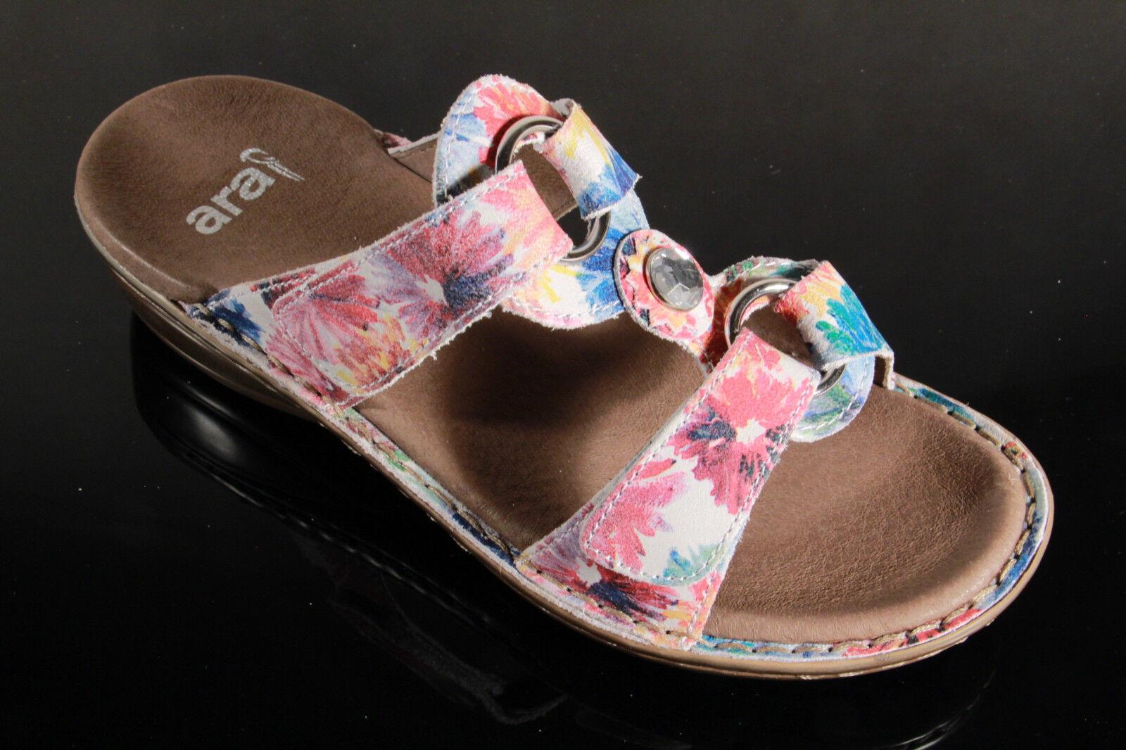 ARA Sandalias zapato abierto piel auténtica, multicolor, CIERRE ADHESIVO 27273
