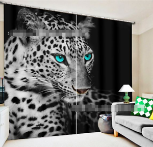 3D Panthers 32 Cortinas de impresión de cortina de foto Blockout Tela Cortinas Ventana au