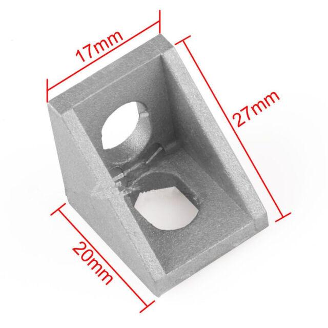 Staffa ad angolo retto per giunto angolare in alluminio grigio L 10x 20x20mm BEI