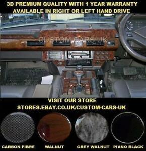 Details about LAND ROVER RANGE ROVER CLASSIC 1986-1996 Dash Kit Walnut -  Carbon - Piano Black