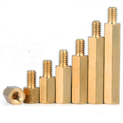 M4 Male x M4 Female Brass Hex Standoff Spacer 5mm to 25mm