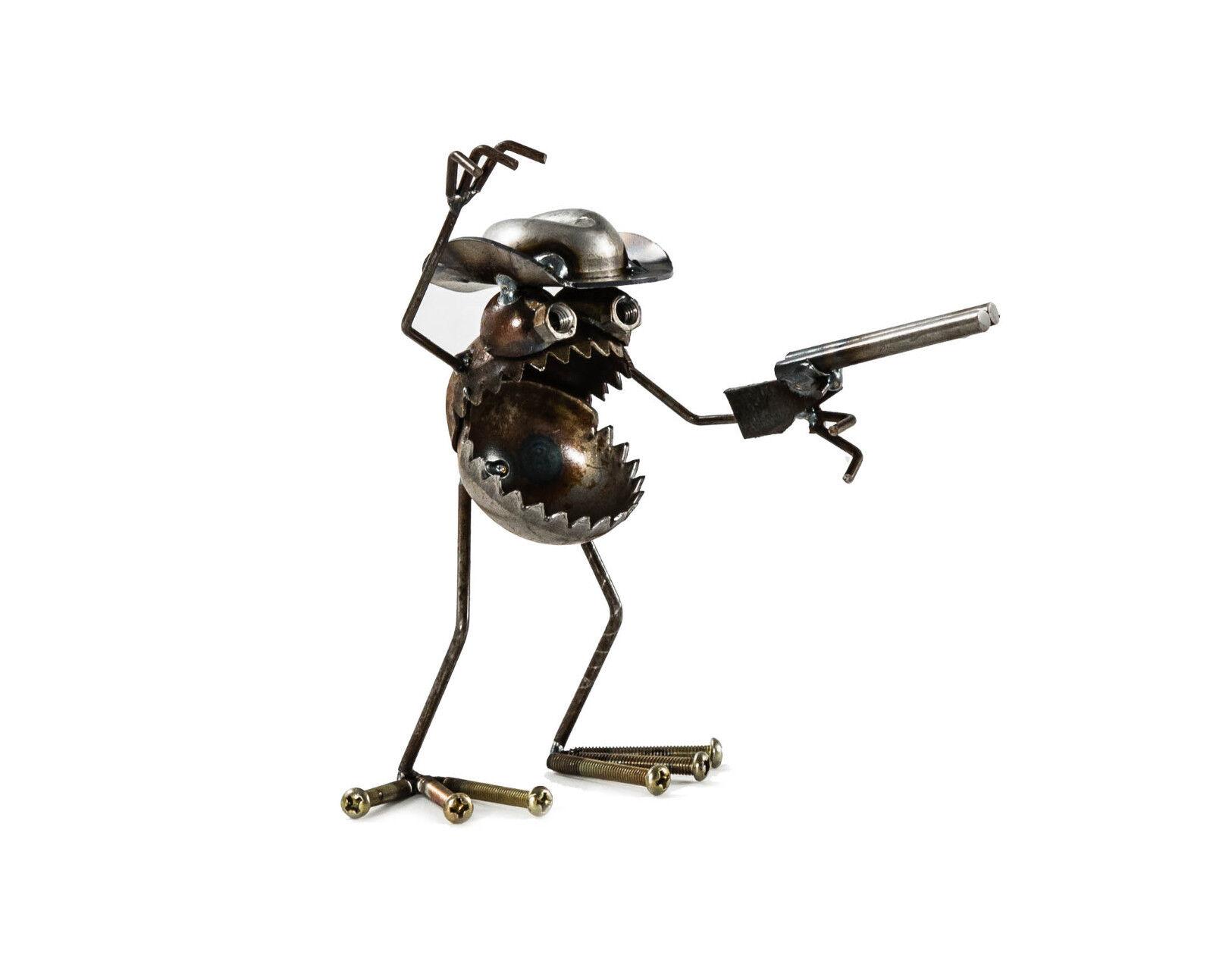 Sugarpost chatarra arte se ha ido Mini Hunter escultura de GNOME Artículo Nº 1083