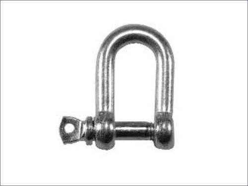 Faithfull D-Shackle Chain Chackle Zinc Plated or Stainless Steel