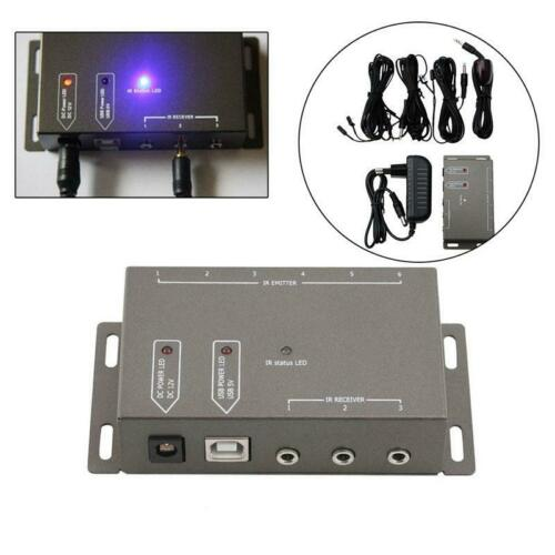 6 Emitters 1 Receiver Hidden IR Repeater Infrared Remote Extender System Kit US