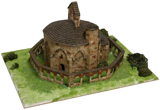 Aedes 1106. Maquette Église St. De Maria Eunate. Construction en brique