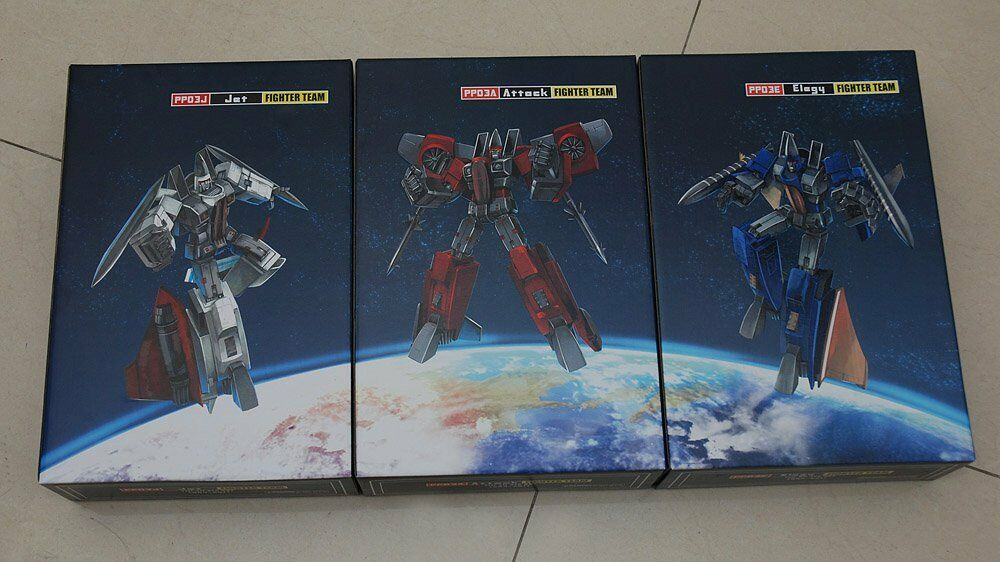 IGear Transformers Masterpiece Coneheads Thrust, Ramjet, and Dirge