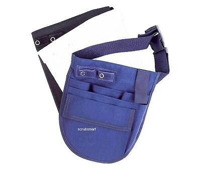 NEW Nurse Small Nylon Apron Medical Pocket Organizer Belt - Royal US Seller