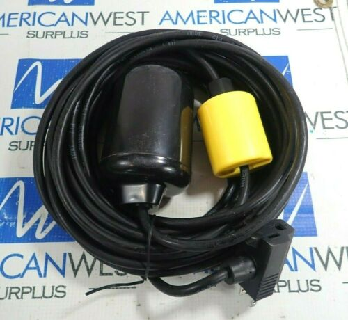 MUNRO FC0257 FLOAT CONTROL SWITCH W//WEIGHT /& 110V P.B ENDS 10M *NEW*