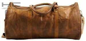 Bag-Leather-Duffle-Travel-Gym-Weekend-Holdall-Luggage-Sports-Cabin-unique-Men-039-s