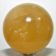 """2.1"""" Rainbow Yellow Iceland Spar Sphere Natural Optical Calcite Crystal - China"""