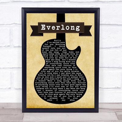 Everlong Script Heart Song Lyric Quote Print