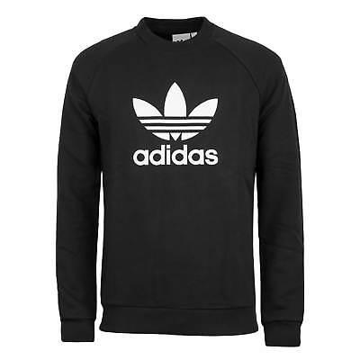 Adidas Originals Trefoil Crewneck Sweater Black White Men's Sweatshirt   eBay