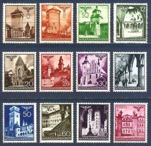 DR-Nazi-3rd-Reich-Rare-WW2-Stamp-039-1940-GG-Castles-Tower-Church-Poland-Occupation