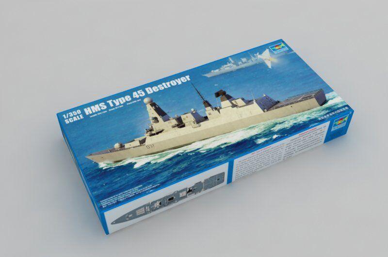 04550 trumpetare plast modelllllerler DIY 1  350 HMS Typ 45 Destroyer Warship assemble