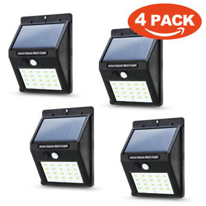 Impermeable-Solar-Power-20-LED-Luz-de-Pared-Sensor-de-movimiento-PIR-lampara-de-jardin-Lampara-al