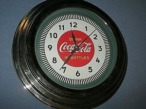 11.75 inches Coca-Cola Wall Clock with Chrome Finish Cans Style