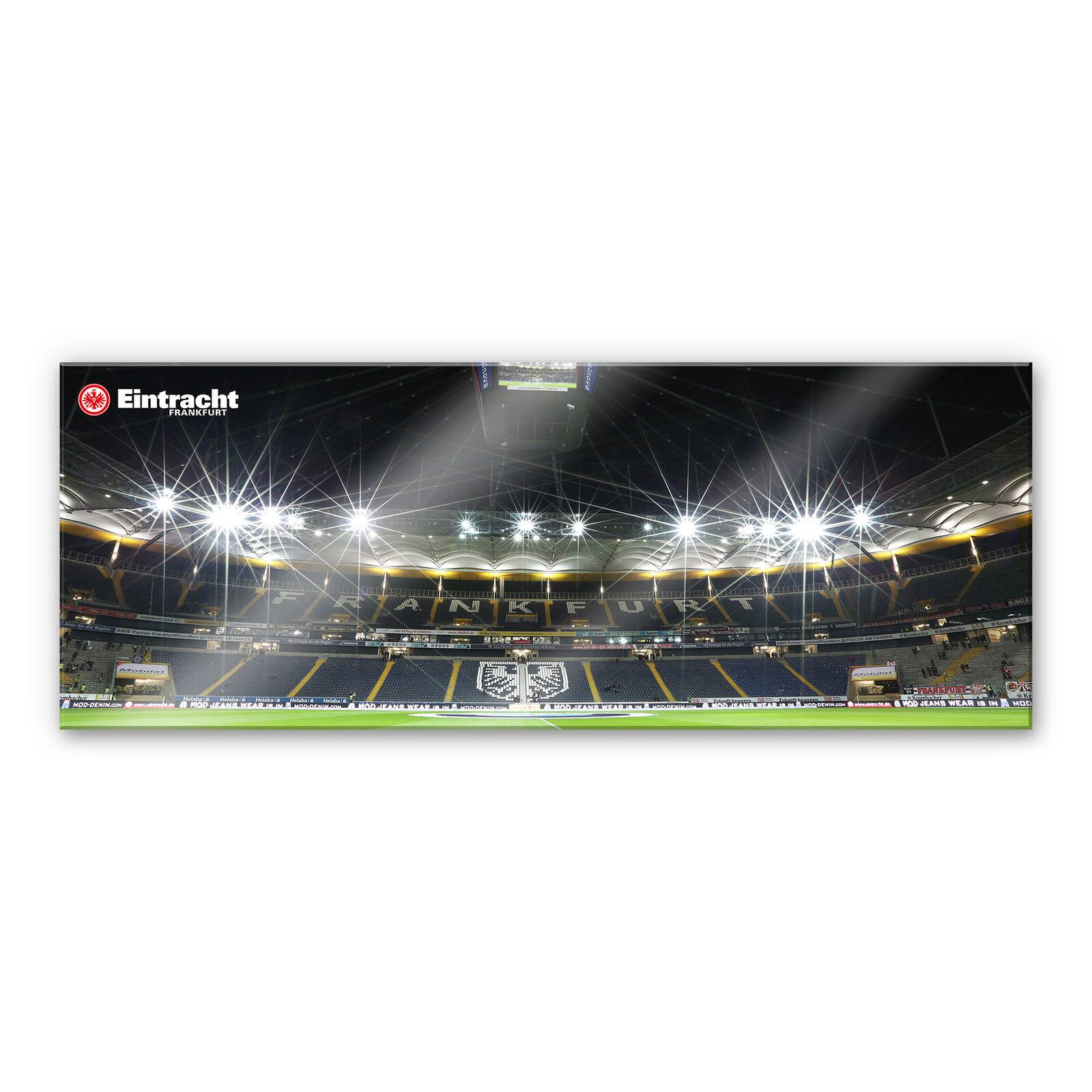 Acrylglasbild Eintracht Frankfurt Nacht - Panorama schwarz FANSHOP DEKO FUSSBALL  | Sonderangebot