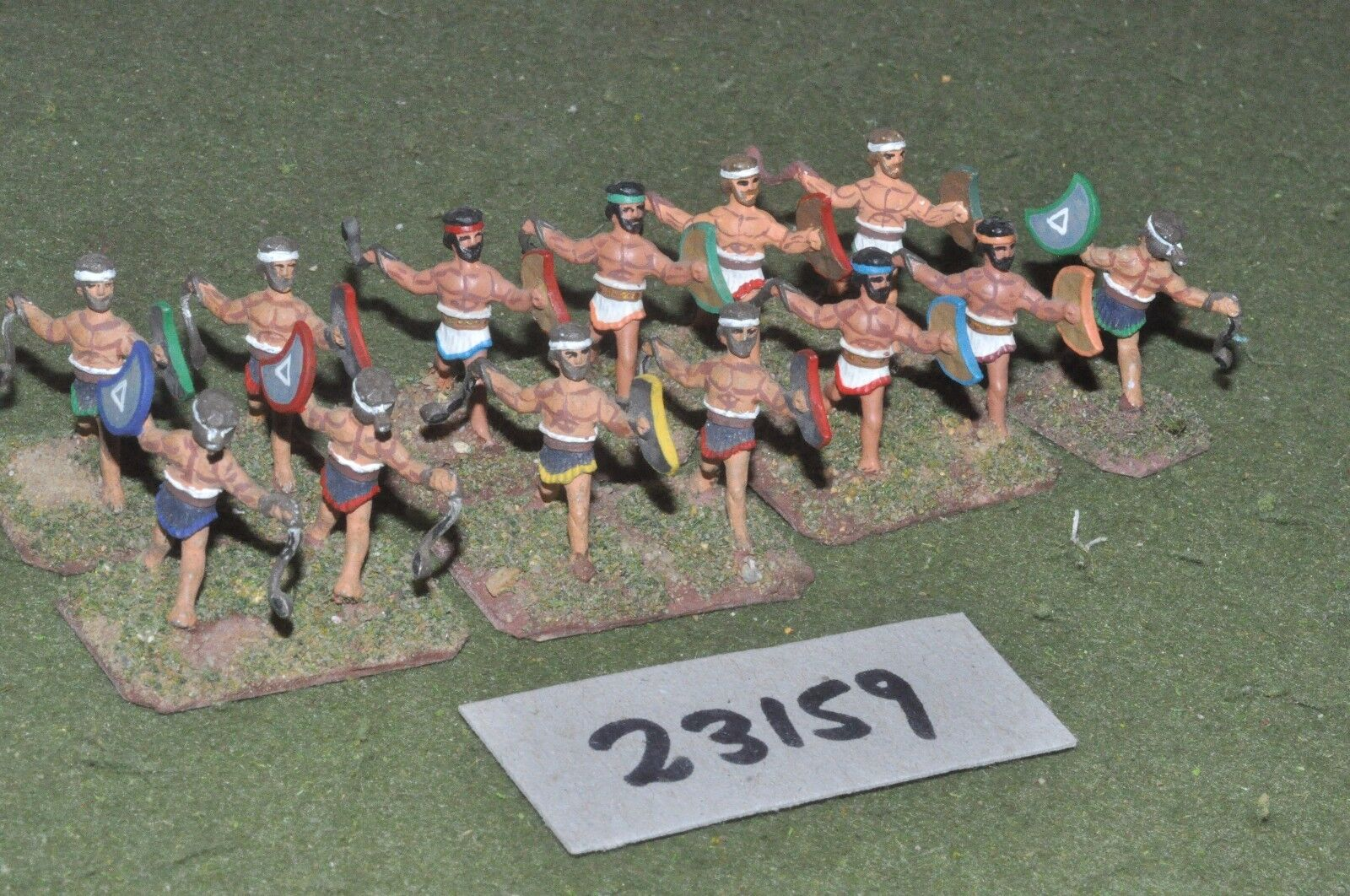 25mm classical   thracian - slingers 12 figures - inf (23159)