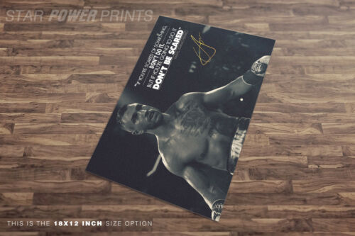 Vasyl Lomachenko inspirational quote photo print poster Pre signed  A quality