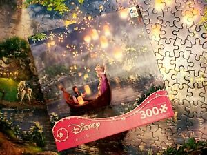 Thomas Kinkade Disney Princess TANGLED Puzzle 300 pieces complete