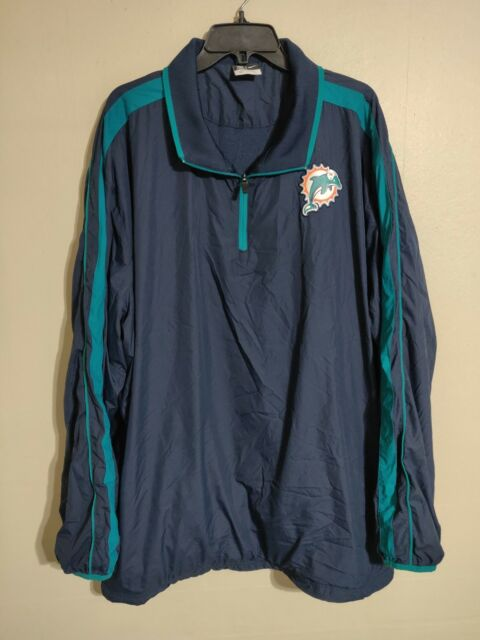 Miami Dolphins Nike On Field NFL Football 1 4 Zip Light Jacket - Men s 3XL 207dfe377