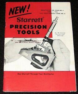 STARRETT-PRECISION-TOOLS-1953-CATALOG-BULLETIN-100-GAGES-MICROMETERS-CALIPERS