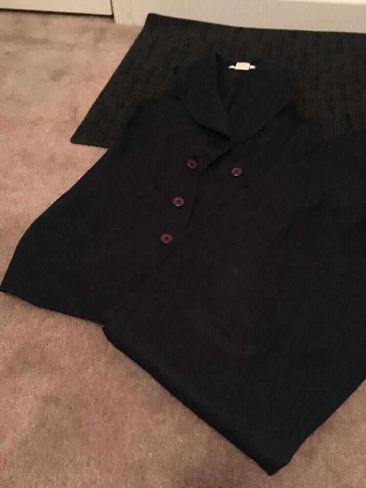 Labelle Womens Pant Dress Vest Suit 2Pc Vest Pants Clothes Sz 11 bluee