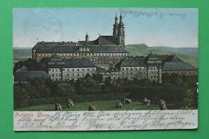 Bayern-AK-Schloss-Banz-Kloster-OFR-1903-Gebaeude-Architektur-Kirche-Umgebung-1