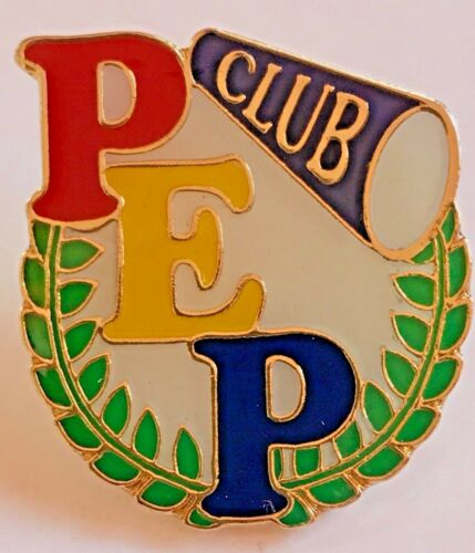 """/""""PEP CLUB/"""" Megaphone Lapel Pins Wholesale Lot of 25//FROM NEW LINE!"""