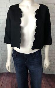 Everly-Women-039-s-Shrug-Cardigan-Top-Size-M-Black-Career-Dressy-Casual