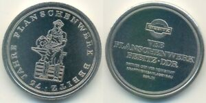 CoopéRative Rda Médaille, Bernburg-bebitz Veb Flanschenwerk 75 Ans, Enclume Forgeron-afficher Le Titre D'origine Quell Summer Soif
