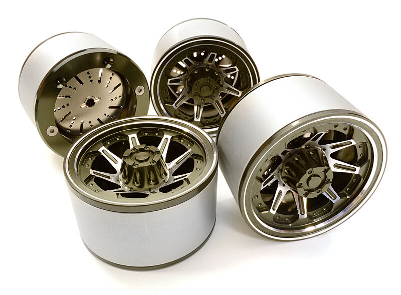 C26618GUN Integy 2.2 Dimensione Billet Alloy 8D Spoke Wheel(4)High Mass for Crawler