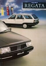 Fiat Regata 1989-90 UK Market Sales Brochure Saloon Weekend Mare TD SX Riviera