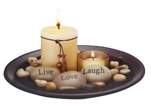 essence candle set with sentiment stones candles rocks included