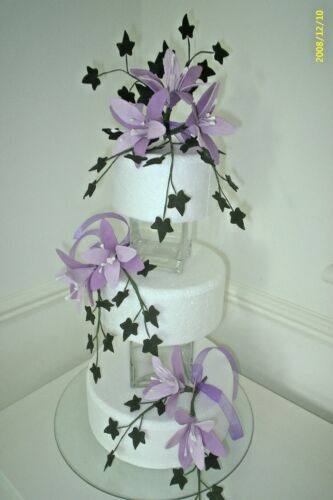 WEDDING CAKE SUGAR FLOWERS STAR LILIES SET OF 3 MORE OPTIONS AVAILABLE. Zx