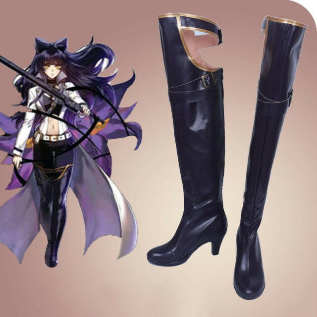 d1c09d13d990 Customized RWBY Blake Belladonna Cosplay Costume Boots Women s Shoes Custom  Boot