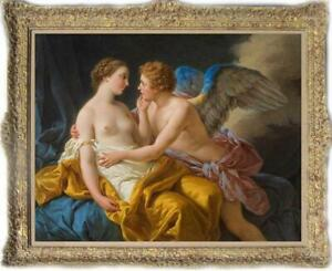 "Old Master-Art Antique Oil Painting Portrait angle cupid on canvas 30""x40"""