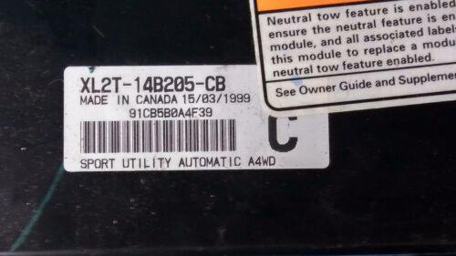 00 Ford EXPLORER 4X4 GEM Electronic Multifunction Module XL2T-14B205-CB BCM