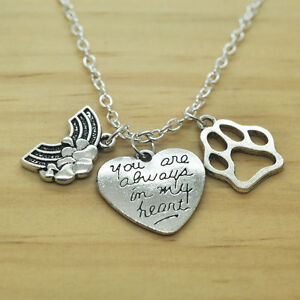 Rainbow bridge pet memorial charm necklace you are always in my image is loading rainbow bridge pet memorial charm necklace you are aloadofball Images