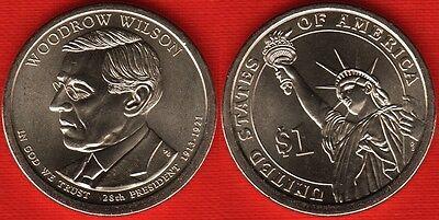 2013 D WOODROW WILSON DOLLAR COIN    AU    FREE SHIPPING