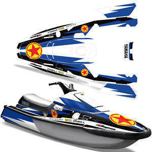 Yamaha Waverunner 3 Decal Graphic Kit Wrap Jet Ski Wave Runner Wr 1991 1996 R S Ebay