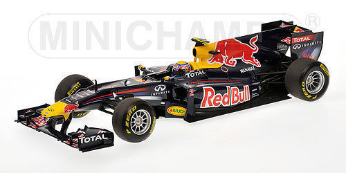 Minichamps rouge Bull racing renault Marc webber showcar 2011, 1 43