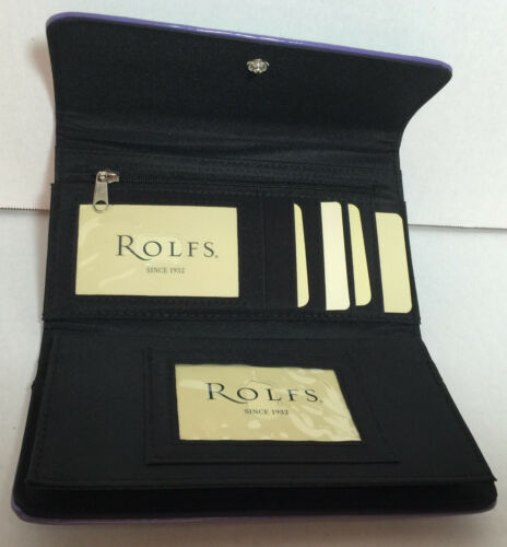 New Rolfs ladies women wallet purse,Zebra print checkbook organizer