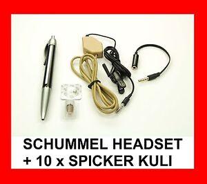 SCHUMMEL HEADSET mit SPICKER KULI SPION HÖRMUSCHEL PERFEKT FÜR STUDENTEN !