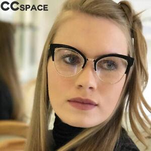 2affdcf7771 Cat Eye Hollow Glasses Frames Women Trending Half Frame Optical ...