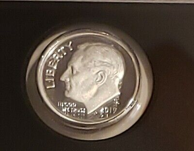 2019 S .99.9/% SILVER PROOF ROOSEVELT DIME DEEP CAMEO..