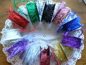 Metallic-EYELASH-Ribbon-Wired-3-Metres-3cm-wide-Polyester-May-Arts-Choice-CLD12
