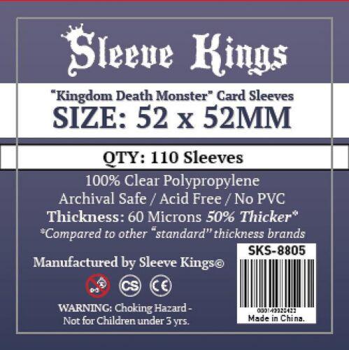 MANICOTTO Kings 52x52mm REGNO MORTE MOSTRO CARD Maniche