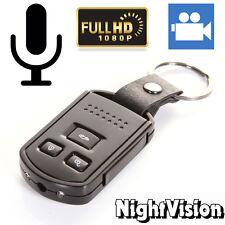 HD 1080P Metal Car Key Chain Mini Hidden SPY Camera DVR Motion Detection IR Cam