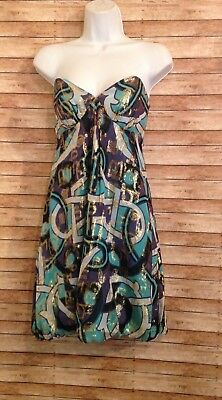 nicole miller collection strapless dress size 2